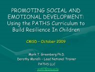 PROMOTING SOCIAL AND EMOTIONAL DEVELOPMENT: Building ...