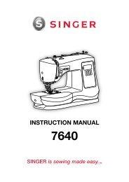 Singer 7640 | CONFIDENCE™ - English, French, Spanish - User Manual