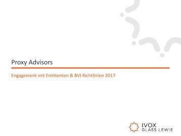 Proxy Advisors