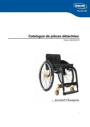 PARTS-PUBLISHER Workbench - Küschall® Champion ... - Invacare