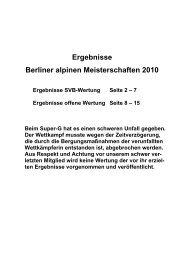 Ergebnisse Berliner alpinen Meisterschaften 2010 - Ski-Club Berlin EV
