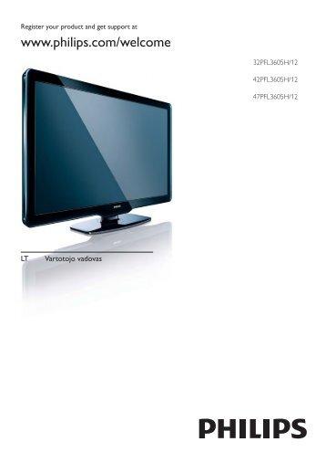 Philips TV LCD - Mode d'emploi - LIT