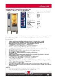 KOMBIDÄMPFER - MULTIMAX B - GN 20 x 1/1 GAS