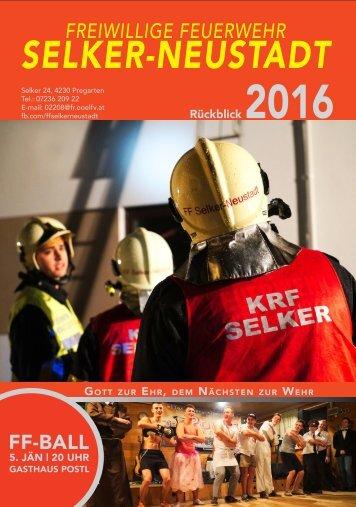 FF Selker-Neustadt – Rückblick 2016
