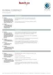 GLOBAL COMPACT - Kusch+Co