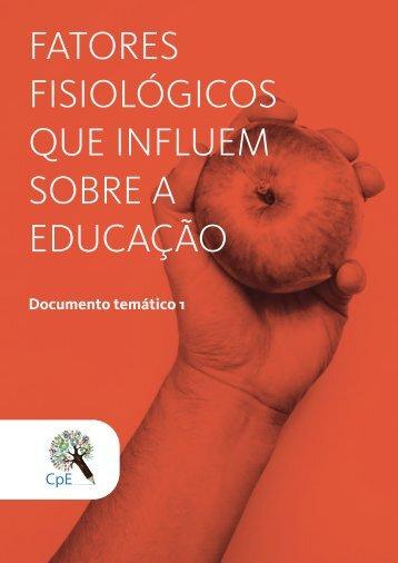 FATORES FISIOLÓGICOS QUE INFLUEM SOBRE A EDUCAÇÃO