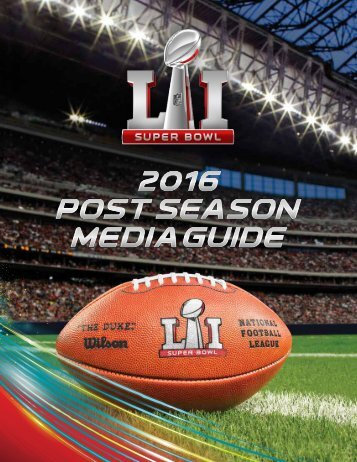 2016 NFL Postseason Media Guide