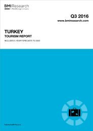 Turkey Tourism Report 2016