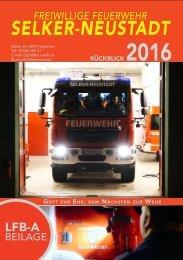FF Selker-Neustadt – Rückblick 2016 LFB-A-Beilage