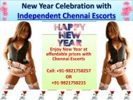 New Year Entertainment with Hot Chennai Escorts