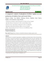 A comparative analysis of phosphorus fertilizer regimes on seed production of Lablab in East and Central Africa