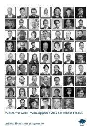 Wissen was wirkt | Wirkungsprofile 2015 der Ashoka Fellows