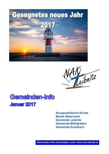 Gemeindeninfo Januar 2017