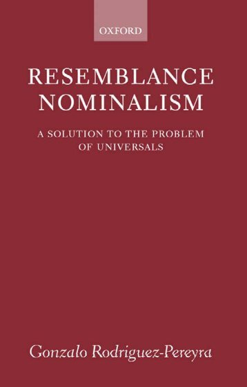 Gonzalo Rodriguez-Pereyra - Resemblance Nominalism