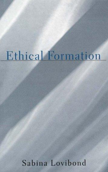 Sabina Lovibond - Ethical Formation