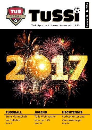 TuSSi Nummer 92 - Dezember 2016