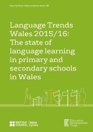 language learning in primary and secondary schools in Wales