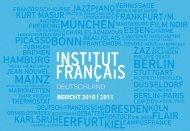 bericht 2010 | 2011 - Institut français