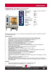 KOMBIDÄMPFER - MULTIMAX B - GN 12 x 2/1 GAS
