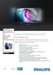 Philips 7000 series Téléviseur LED ultra-plat Smart TV Full HD - Fiche Produit - FRA