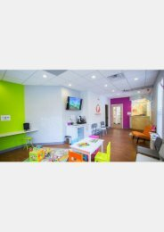 Waiting area at Montgomery Pediatric Dentistry located just 4 miles north of McCarter Theatre Center