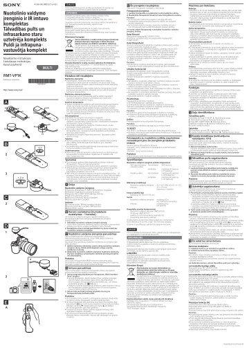 Sony RMT-VP1K - RMT-VP1K Istruzioni per l'uso Estone