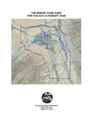 THE BISHOP CONE AUDIT FOR THE 2014-15 RUNOFF YEAR