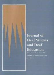 Front Matter (PDF) - Journal of Deaf Studies and Deaf Education