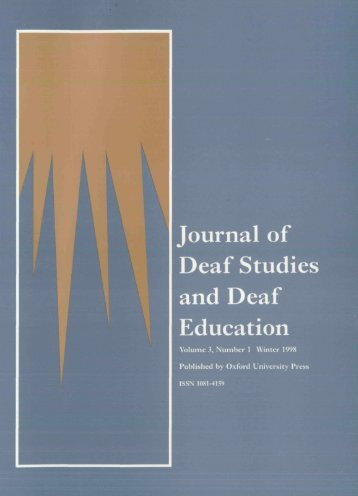 Front Matter (PDF) - Journal of Deaf Studies and Deaf Education