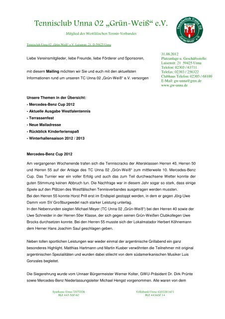 "Mailing August 2012_2_2 - Tennisclub Unna 02 ""Grün-Weiß"""