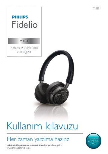 Philips Fidelio Casque Bluetooth® - Mode d'emploi - TUR