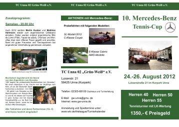 """10. Mercedes-Benz Tennis-Cup 24. - Tennisclub Unna 02 """"Grün-Weiß"""""""