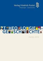 GE SCH I CHTE T HEO LO GIE - Pustet Verlag