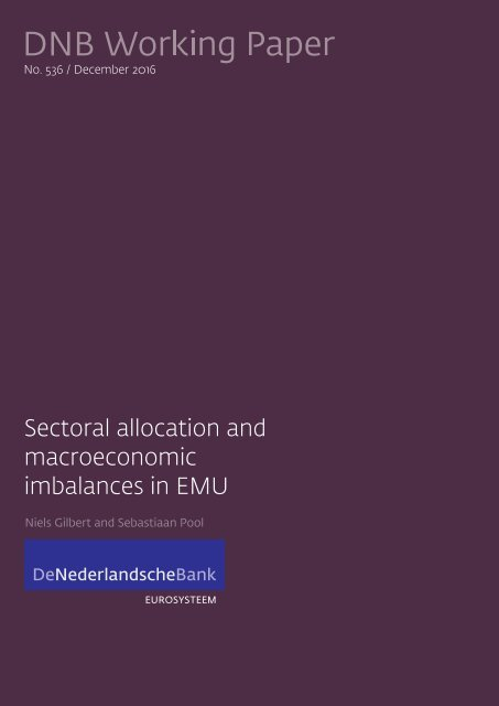 Sectoral allocation and macroeconomic imbalances in EMU