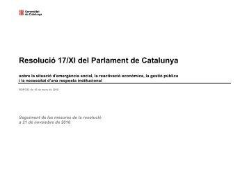 Resolució 17/XI del Parlament de Catalunya