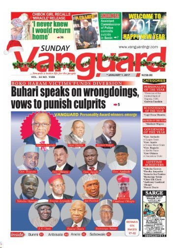 01012017 - Boko Haram Victims funds Diversion: Buhari Speaks on wrongdoings vows to punish culprits