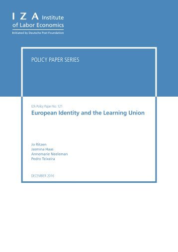 Policy Paper Series European Identity and the Learning Union