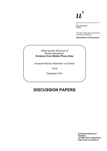 DISCUSSION PAPERS