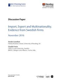 Import Export and Multinationality Evidence from Swedish Firms