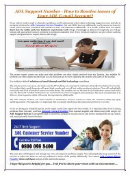 AOL Support Number - How to Resolve Issues of Your AOL E-mail Account?