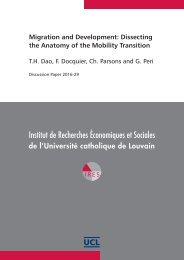 Migration and Development Dissecting the Anatomy of the Mobility Transition
