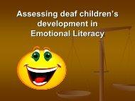 Assessing deaf children's development in Emotional Literacy