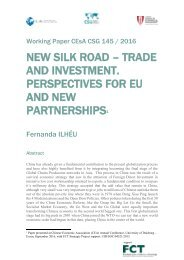 AND INVESTMENT PERSPECTIVES FOR EU AND NEW PARTNERSHIPS