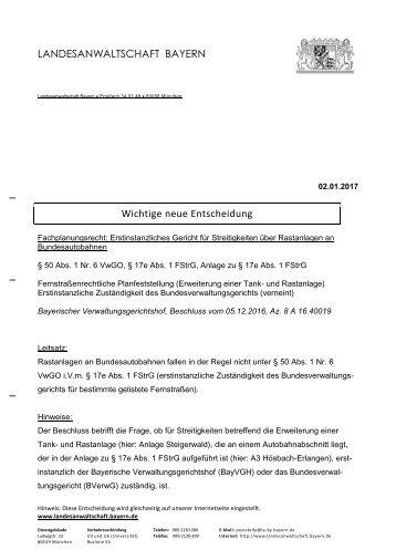 Bundesverwaltungsgerichts erstinstanzlich Bundesverwaltungsgericht