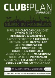 Clubplan Hamburg - Januar 2017