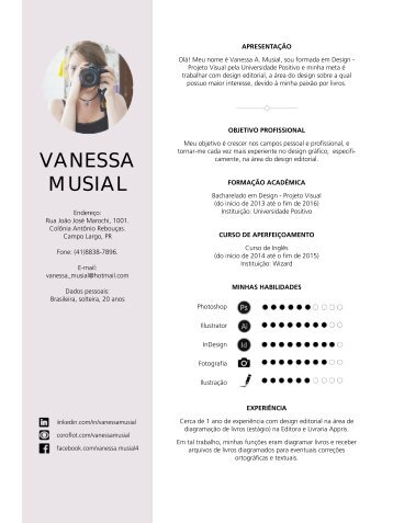 Curriculo - Vanessa Musial