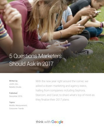 5 Questions Marketers Should Ask in 2017