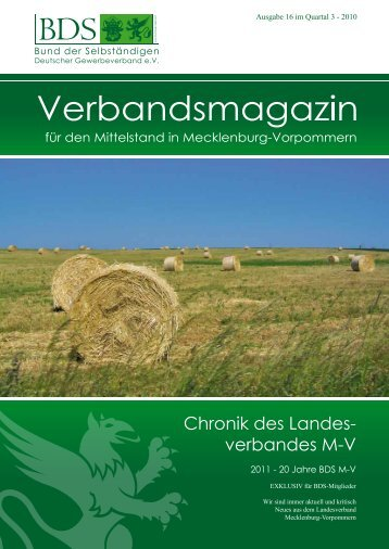 Chronik des Landes- verbandes M-V - Deutscher Gewerbeverband ...