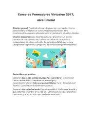Curso de Formadores Virtuales 2017