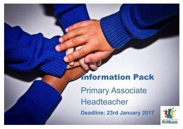 Primary Associate Headteacher